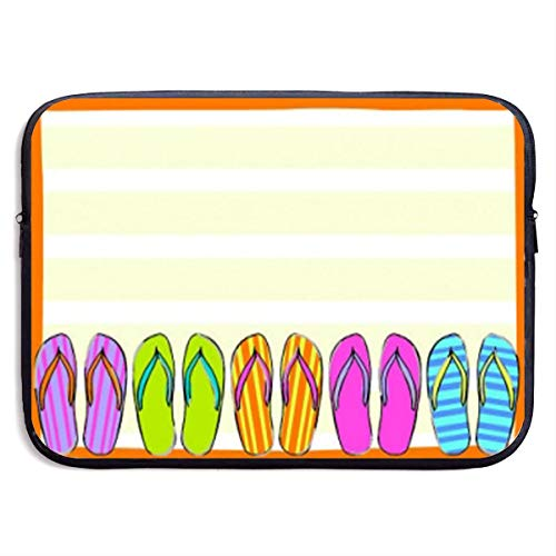 Flip Flop Border on Beach Business Briefcase Sleeve Laptop Sleeve Case Cover 13 Inch for MacBook Air/Asus/Dell/Lenovo/Hp/Samsung/Sony