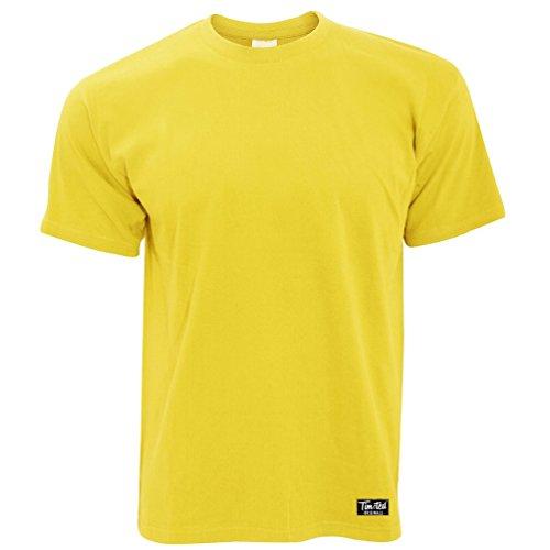 (Tim And Ted Logo Premium Plain T Shirt Apparel Yellow S)