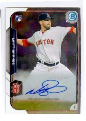 Matt Barnes autographed Baseball Card (Boston Red Sox) 2015 Topps Bowman   BCARMB - 4003430df25