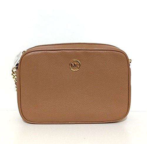 Michael Kors Fulton Leather Large East West Cross-body with Back Slip Pocket by Michael Kors