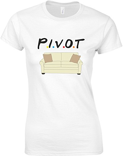 Pivot, Ladies Printed T-Shirt - White/Black/Transfer for sale  Delivered anywhere in Canada
