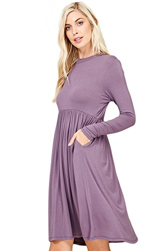 Empire Knit Dress - 4