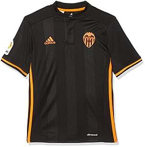 adidas 2ª Equipación Valencia CF Camiseta Oficial, Niños, Negro, 7-8 años