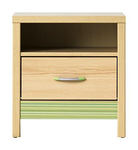 Furniture24_eu Nachttisch Nachtschrank Kommode CODI (Kirsche Cornvall Rainbow Grün)