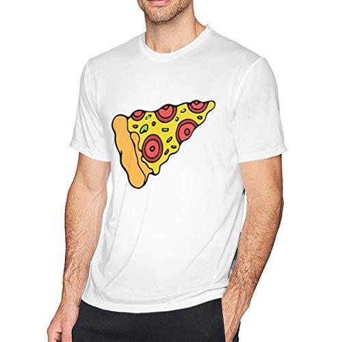 Camisetas Deportivas de Manga Corta para Hombre Pizza