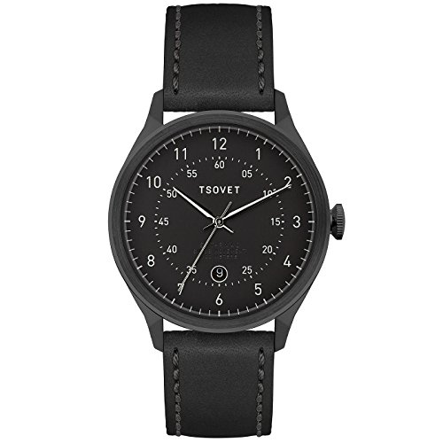 Tsovet-SVT-RM40-Analog-Quartz-BlackBlack-w-WhiteBlack-Watch