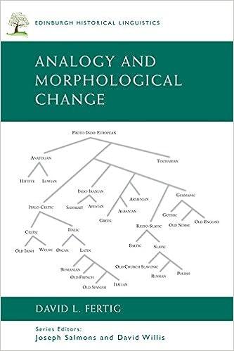 Book Analogy and Morphological Change (Edinburgh Historical Linguistics)