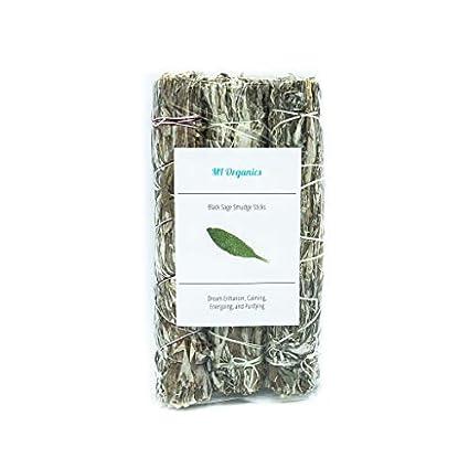 Amazon com: MI Organics Black Sage Smudge Stick: Set of 3 Jumbo