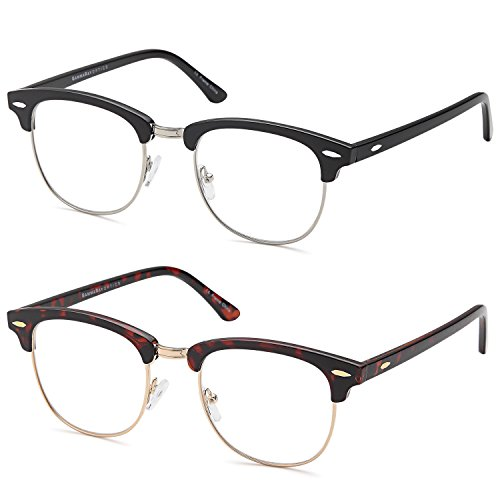 GAMMA RAY READERS 2 Pairs Men's Readers Quality Reading Glasses for - Glasses New Men For