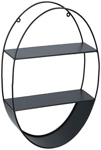 Metall Wandregal schwarz 40x36,5 cm 3 Böden Design Hängeregal Schweberegal