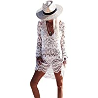 De la Mujer Traje de baño Cover Up Bikini Traje De Baño Swimwear Crochet la playa vestido