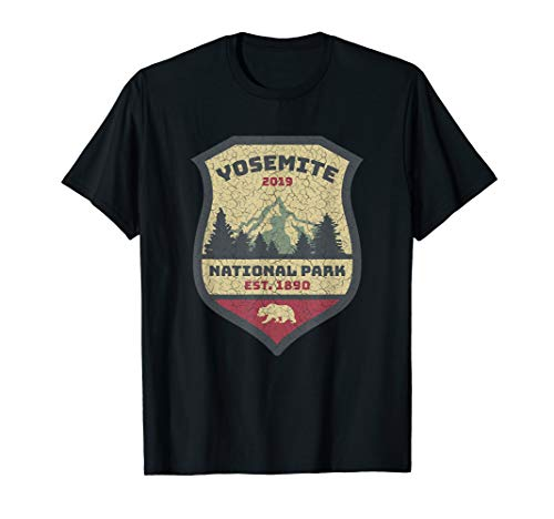 Yosemite National Park Campground Campers Hikers Souvenir T-Shirt