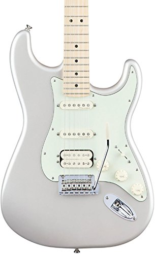 Fender Deluxe Stratocaster Electric Guitar HSS, Maple Fingerboard, Blizzard Pearl