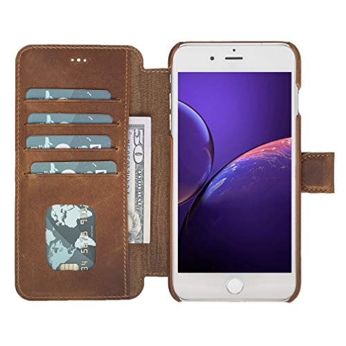 Venito Siena Ultimate Leather Wallet Case for iPhone 8 Plus/iPhone 7 Plus (Antique Brown)