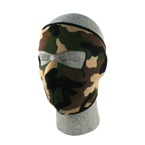 ZANheadgear Neoprene Face Mask (Woodland Camouflage), Outdoor Stuffs