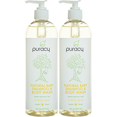 Puracy Natural Baby Shampoo & Body Wash, Tear-Free Soap, Sulfate-Free, 16 Ounce (2-Pack) California Daily Moisturizing Conditioner