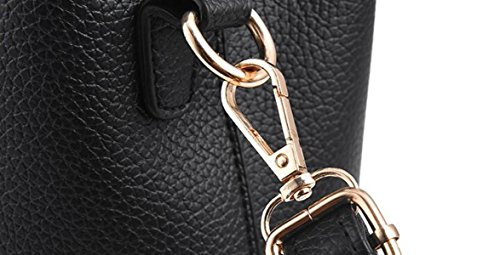 Black Bags Handbags Leather Messenger Black Handbags Pu Simple Handbag Bag Elegant Fashion Bag Women Bag Ladies 5gO44WqRf