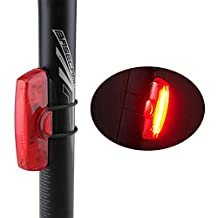 Bike Tail Light, Evary Super Bright USB Rechargeable LED Bicycle Rear Light, Waterproof Bicycle Safety Light, 30 LEDs, 6 Modes Red Light for Cycling, Helmets or Backpacks