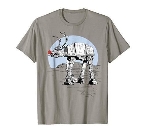 (Star Wars Rudolph ATAT Walker Christmas Graphic T-Shirt)