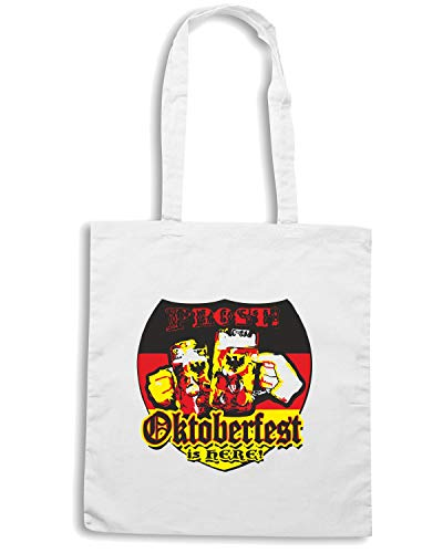 Speed Shirt Borsa Shopper Bianca BEER0100 OKTOBERFEST IS HERE