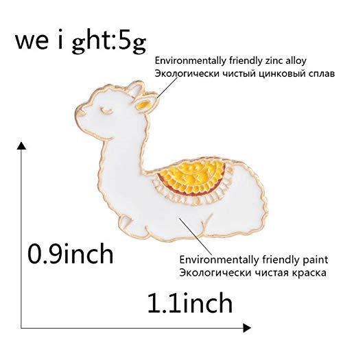 Baby Llama Enamel pin Cute Animal Badge brooches Gift Cartoon Icons Jackets Coat Dress Button Pin Gift for Girl Kids Daughter