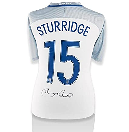 73c87a23d Daniel Sturridge Hand-Signed 2016 17 England Home Shirt - Number 15 -  Autographed Soccer Jerseys at Amazon s Sports Collectibles Store