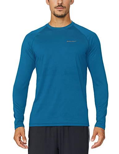 Baleaf Men's Cool Running Workout Long Sleeve T-Shirt Blue Size XL