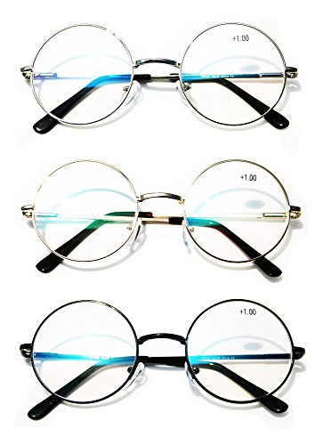Silver Metal Reading Glasses - 4