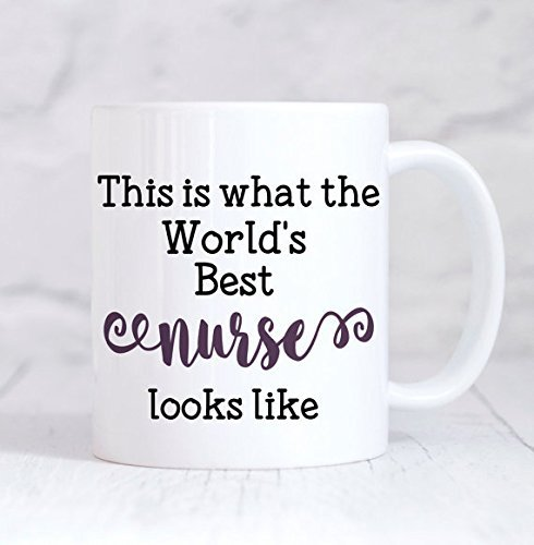 This is What The World's Best Nurse Looks Like Mug, Nurse Mug, Nurse Gift, Nurse Birthday, Gift for Nurse, Thank You Nurse, Coffee Tea Mug, 11oz 15oz