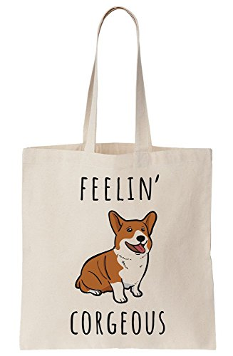 Specie Artwork Corgi Feelin Tote Canvas Dog Bag Corgous OUSqzwg
