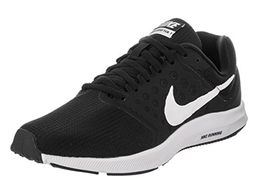 (NIKE Women's Downshifter 7 Black/White/Anthracite Running Shoe 7 Women US)