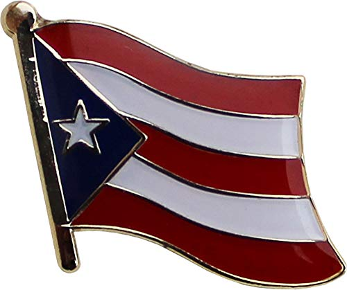 Flagline Puerto Rico - National Lapel Pin ()