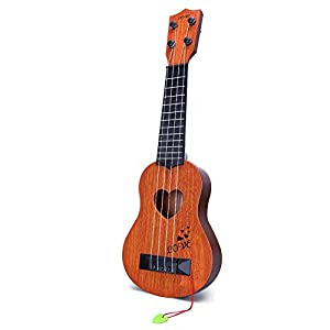 YEZI Kids Toy Classical Ukulele Guitar Musical Instrument, Brown (brown1)