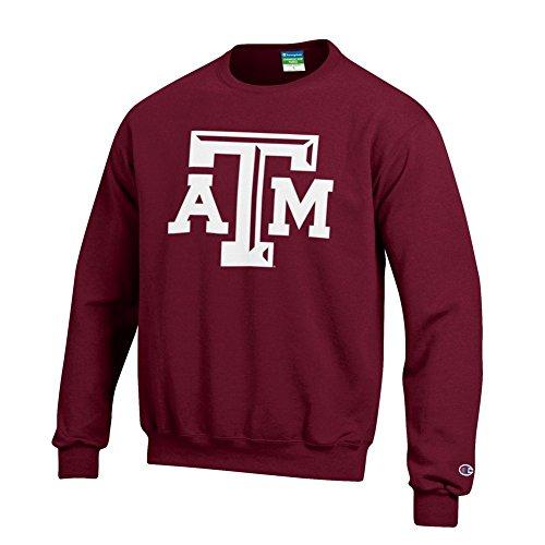 Icon Crew Sweatshirt - Elite Fan Shop Texas A&M Aggies Crewneck Sweatshirt Icon Maroon - M