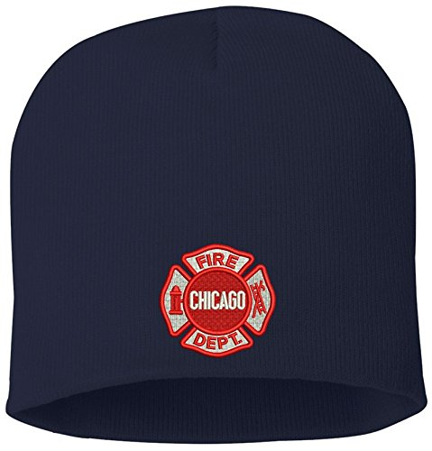 Chicago Fire Department Skull Knit Hat As Seen On TV 11270 Navy Blue