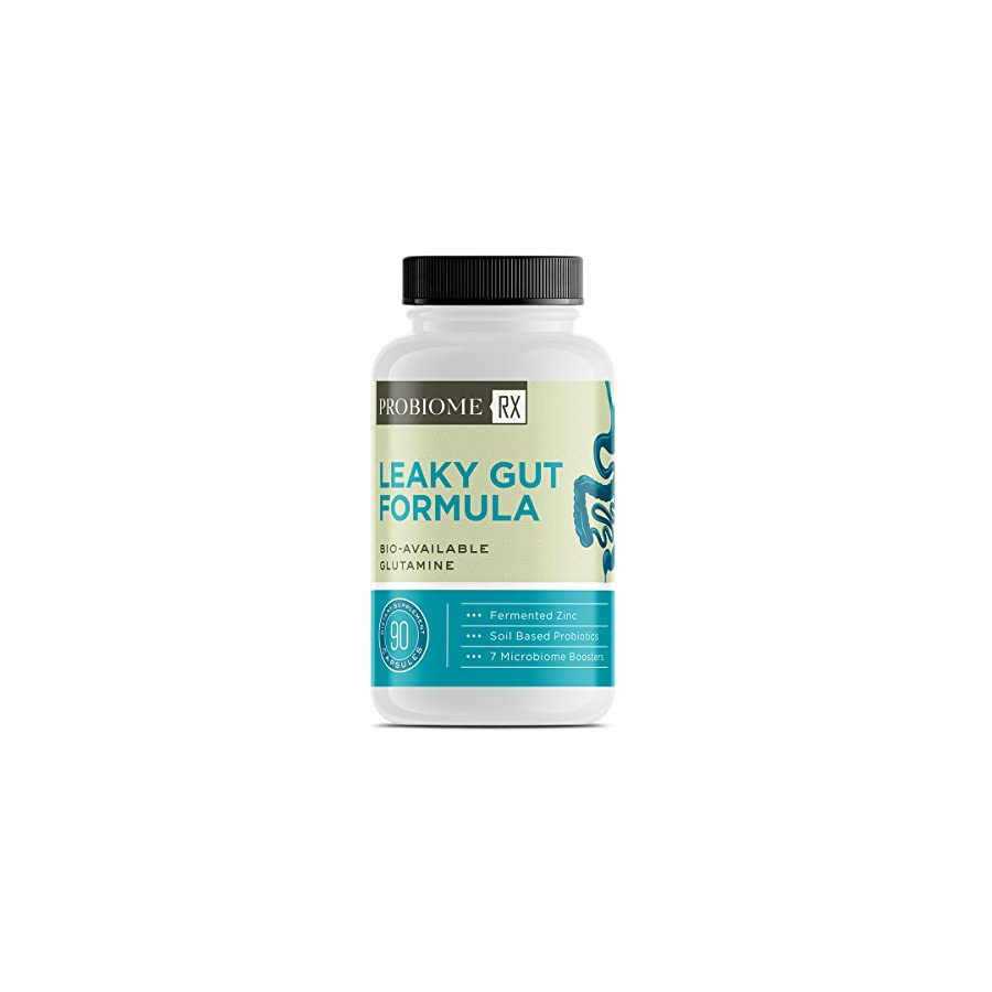 ProBiome Rx Gut Formula Supplements, Gut Integrity Blend of L Glutamine and Licorice Root, 10 Billion CFUs* Per Serving, 90 Capsules