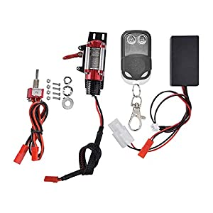 Cimoto RC Winch, Metal RC Car Winch with Remote Controller for Axial SCX10 90046 D90 1/10 RC Crawler Truck