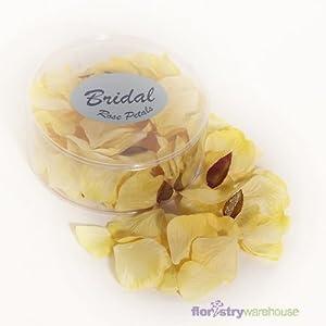 FloristryWarehouse Fake Silk Rose Petals Golden Yellow Wedding Party x 164 pieces 111