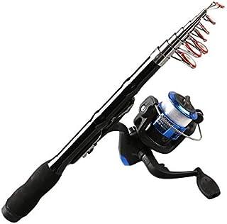 Cremeamamda Mini télescopique Courte pêche en Fibre de Carbone Rod Portable à la Main, Canne à pêche OutdoorSport