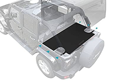 GPCA Jeep Wrangler Unlimited Trunk Cargo Cover for 2007- Present Models