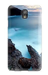 High Quality RpSUmyC876BizbC Ocean Rocks Cliffs Amp Digital Tpu Case For Galaxy Note 3
