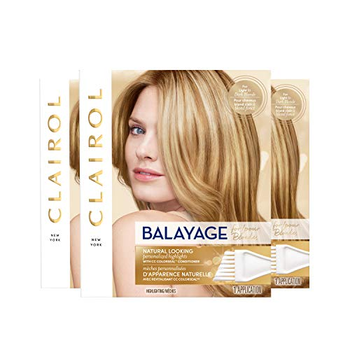 Clairol Nice n Easy Balayage, Natural Looking Blond Highlights Hair Color Kit (Pack of 3) For Light Blonde to Dark Blonde Hair