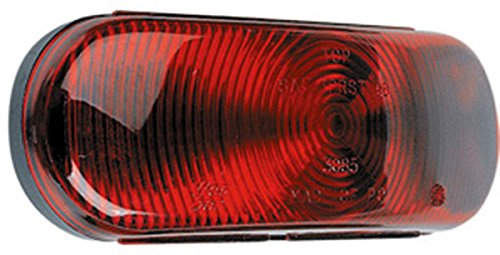 Wesbar Sealed Oval Tail Light, Red 413561