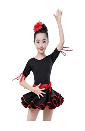MATISSA Kinder Tanzkleid Ballett Latin Rumba Samba Kleid Röcke Dancewear Mädchen Kinder 3 15 Jahre