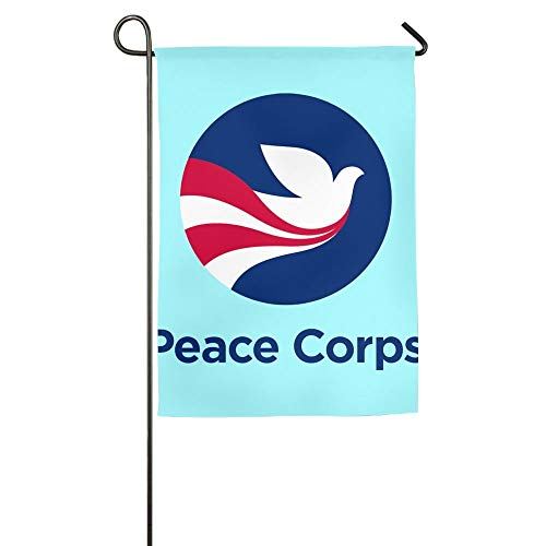 Online Peace Corps Family Party Home Yard House Garden Flags 12x18 inches Semi Transparent Polyester Fiber Banners