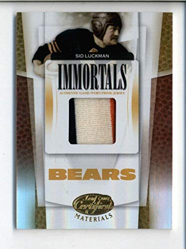 Sid Luckman Bears HOF 2007 Leaf Certified Immortals  252 Prime Jersey Patch   25 - Football Game Used Cards a2436b94f