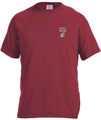 Washington State University Clothing (NCAA Washington State Cougars Adult Unisex NCAA Limited Edition Comfort Color Short sleeve)