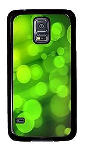 Samsung Galaxy S5 Green Hazy Circle PC Custom Samsung Galaxy S5 Case Cover Black