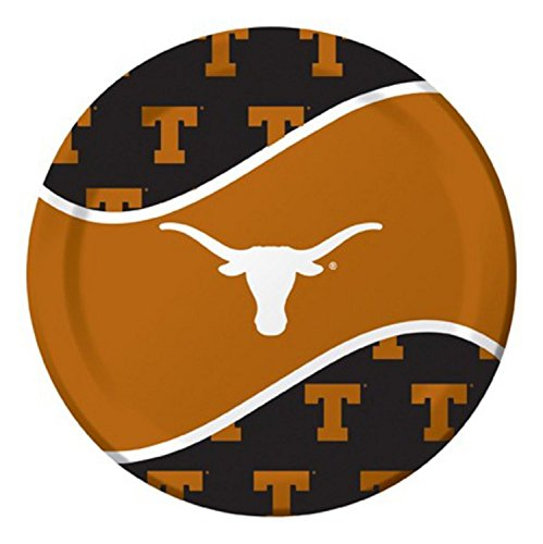 Pack of 96 NCAA Texas Longhorns Round Tailgate