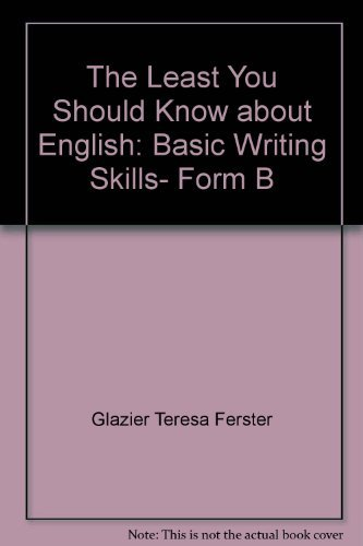 The least you should know about English: Basic writing skills, form B
